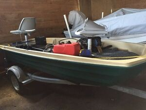 Bass boat package - outboard,trolling,batt,gas and trailer HOLD