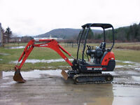 Mini Excavator Rental. Lowest prices in ottawa, Monthly Special