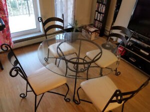 Glass dining table for sale