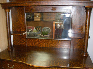 Tiger Oak Sideboard/Display Cabinet C.1905