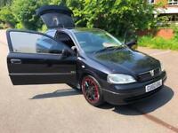Vauxhall Astra 1.6i 16v 2002MY SXi. Coupe MOT, 04/2019. BLACK ALLOYS.