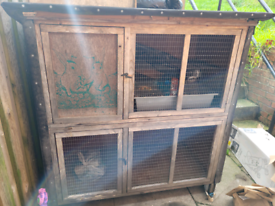 Large outdoor rabbit hutch