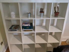 IKEA kallax 4 x4 shelving unit in white