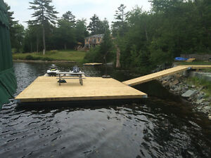 FLOATING DOCKS/FREE CAST STONE FIRE PIT