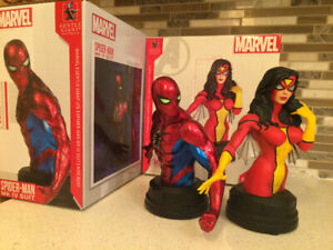 Gentle Giant Spider-Man and Spider-Woman Mini Bust Bundle
