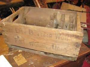ANTIQUE FORT WILLIAM BOTTLING WOODEN CRATE + WISHING WELL