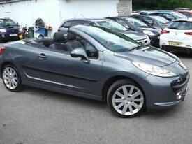2008 PEUGEOT 207 GT COUPE CABRIOLET * LEATHER * CONVERTIBLE PETROL