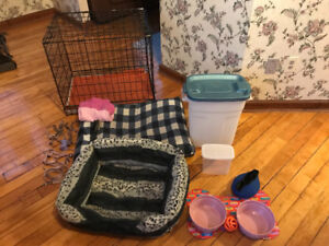Dog crate and accessories