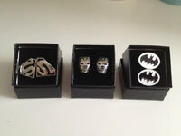 Trendy Superhero Cuff Links - Fathers day Gift - Grooms Men gift