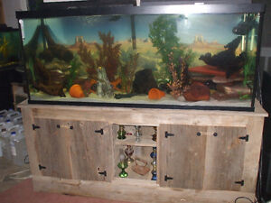 FOR SALE 125GAL. FULL SET UP FISH TANK & STAND