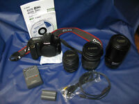 Canon Pro 30D Camera c/w Lenses package,  No taxes