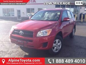 2010 Toyota Rav4 BASE   New tires, one owner, low km, 4cyl, FWD!