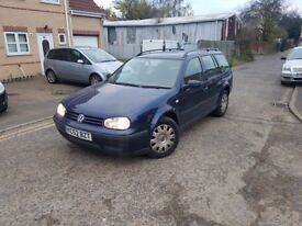 2002,Volkswagen Golf Estate 1.9 TDI Diesel 5 speed manual