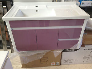 PVC 900x460mm Wall Hung China Top Vanity soft cl Bathroom vanity Empire Bay Gosford Area Preview
