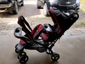 Sit and stand 2 child stroller