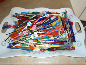 Lot Approx. 300 Vintage Advertising Swizzle Sticks US & Canada