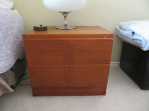 2 Teak Side tables with drawers