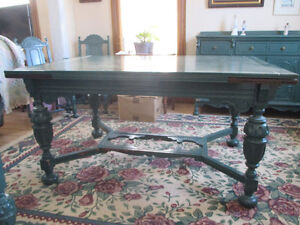 Antique oak dining room set in Jacobean style