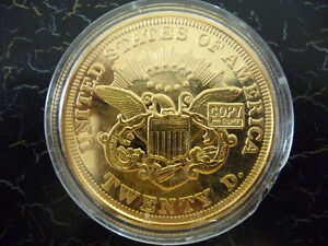2 oz 24 k Gold Plated Liberty .999 fine silver bullion round