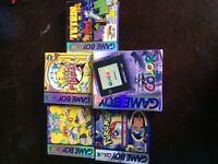 Boxed gameboy color with 4 boxed games 2 pokemon and Tetris NM