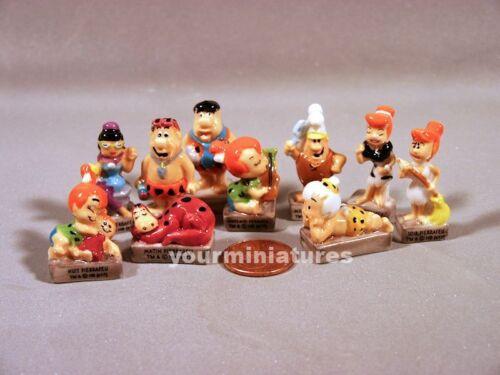 Hanna-Barbera Flintstones French Feves Porcelain 10 Figurines Epiphany Cake