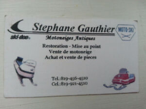 sales and repairs of snowmobiles