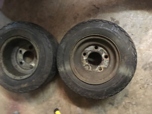2 Galvanized wheels and Tires