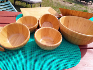 Outdoor serving settings, pampered chef