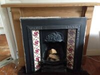 Beautiful Victorian cast iron fireplace