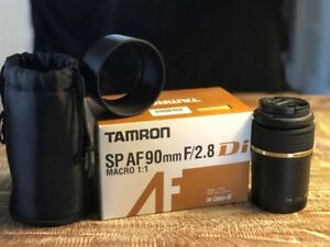 Tamron spaF90mm f2.8 macro lens (Canon mount)