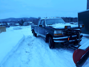 F250 with hydraulic fisher snowplow