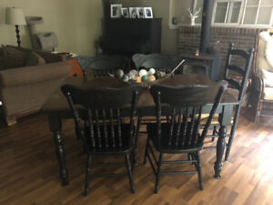 Table and Chair set with matching Cabinet