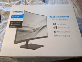 """Philips curved monitor 24"""""""