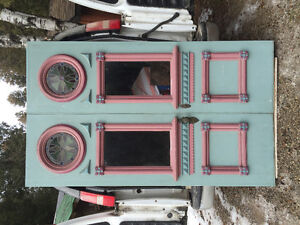 Antique Victorian statement doors