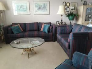 Sofa, loveseat & dining table & chairs