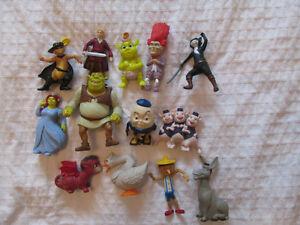 SHREK LOT DE 13 JOUETS FIGURINES MCDONALDS