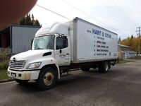 2008, 5 ton Hino, with 24 ft, Van, automatic. $38,000