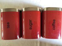 New - Large - Red - Tea, Sugar & Coffee