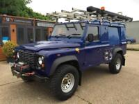2011 (61) LAND ROVER DEFENDER 110 TD HARD TOP LWB UTILITY BLUE EX ELECTRIC 4X4