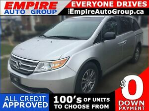 2012 HONDA ODYSSEY EX-L * LEATHER * PWR ROOF * REAR CAM * DVD