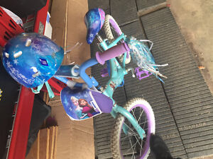 2 Disney Frozen bike and helmet