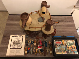 Vintage Star Wars Ewok Village with 20 figures and instructions