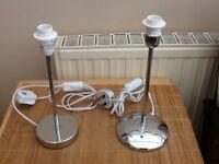 Two Chrome Table Lamps Dunelm & Servlite