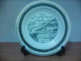 6 Seaford Scenes Porcelain Collectors Plates with 18Kt Gold Border