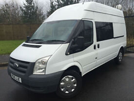 2010 10 FORD TRANSIT 350 2.4 (100) LONG WHEEL BASE HIGH ROOF 9 SEAT CREW VAN
