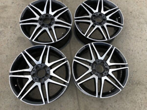"OEM Mercedes AMG C mags rims 18'"" staggered"
