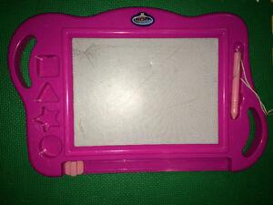 kids Large Imagination erasable magnetic writing pad child toy