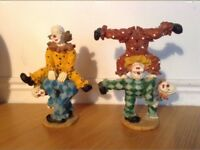 'Clowns at Play' Ornaments x2 £6 EACH