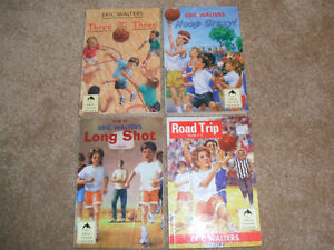 """4 Eric Walters """"Hoops"""" books-Canadian Author"""