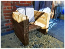 Handmade rustic chunky armchair